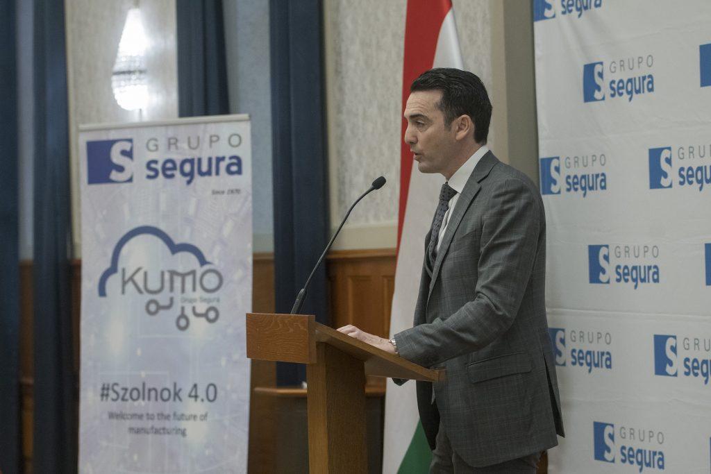 Szijjártó Péter miniszter a F. Segura Hungária kft. bejelentésén  a Külgazdasági és Külügyminisztériumban 2019 március 01-én Fotó:KKM/Burger Zsolt