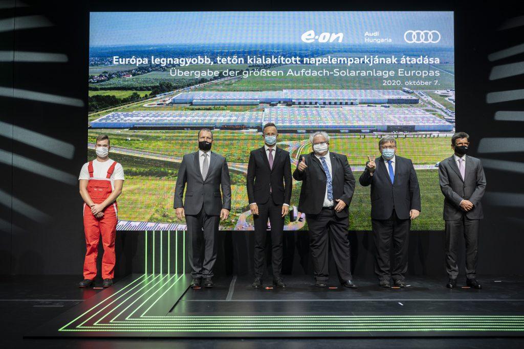 Audi Hungaria napelem park átadás