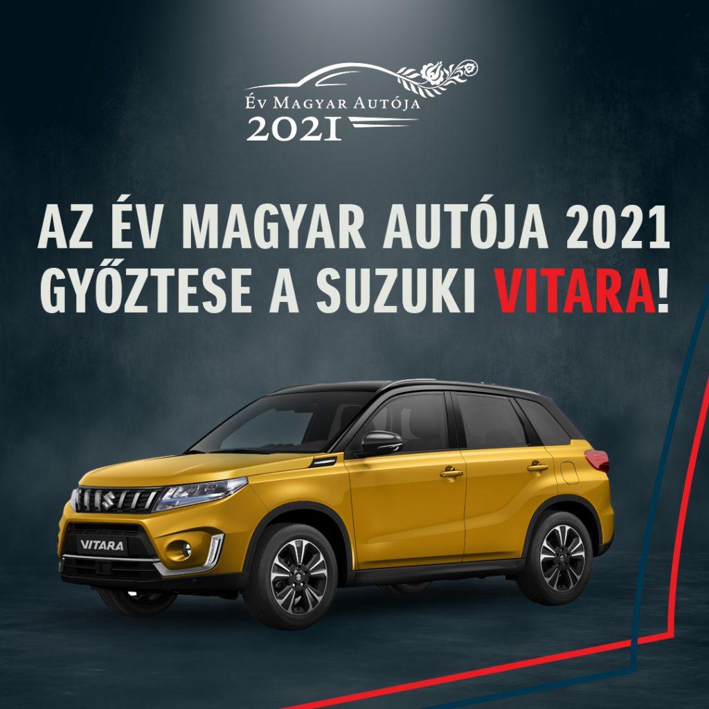 A Suzuki Vitara lett az Év Magyar Autója 2021-ben