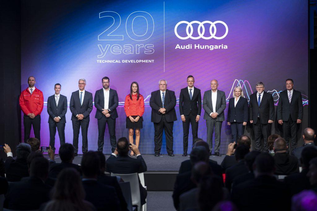 Az Audi Hungaria 20 éves Műszaki Fejlesztését ünnepli és bepillantást ad a jövőbe